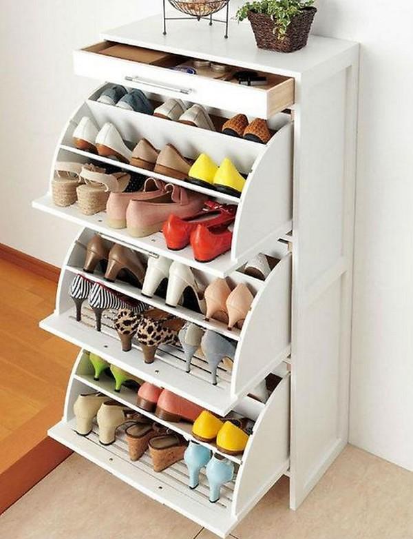 Современная этажерка для обуви фото