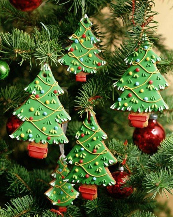 Красивые елочки-игрушки для украшения дома на Новый год 2016