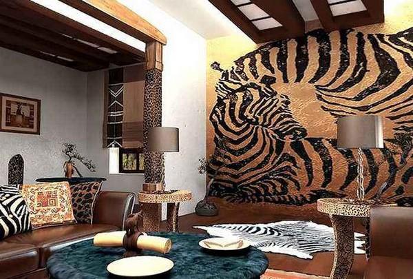 Новогоднее украшение дома в африканском стиле