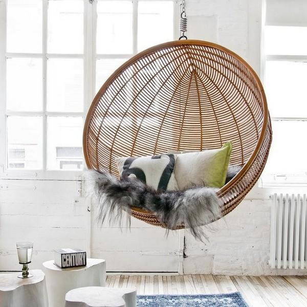 подвесное плетеное кресло шар