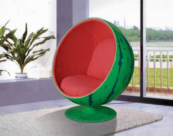 Кресло шар в виде арбуза