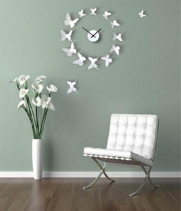 Красивые часы с бабочками