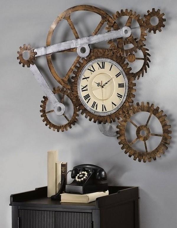 Часовой механизм на стене