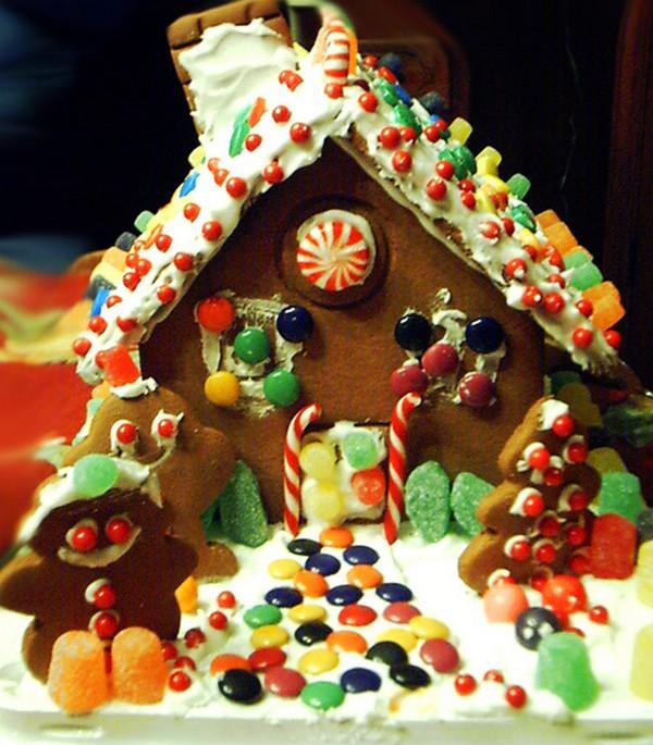 Красивый новогодний домик