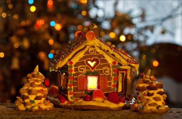 новогодний пряничный домик своими руками