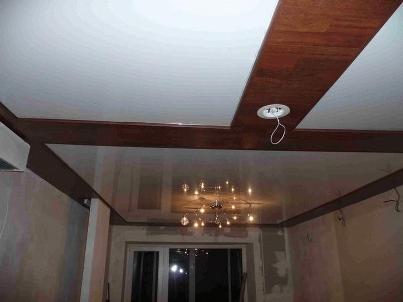 как сделать потолки из ламината фото