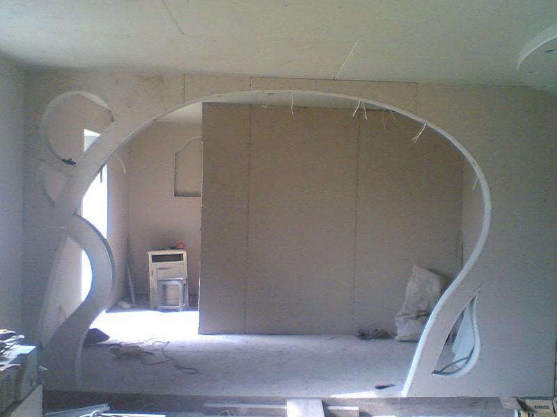 Перегородка аркой из гипсокартона своими руками фото