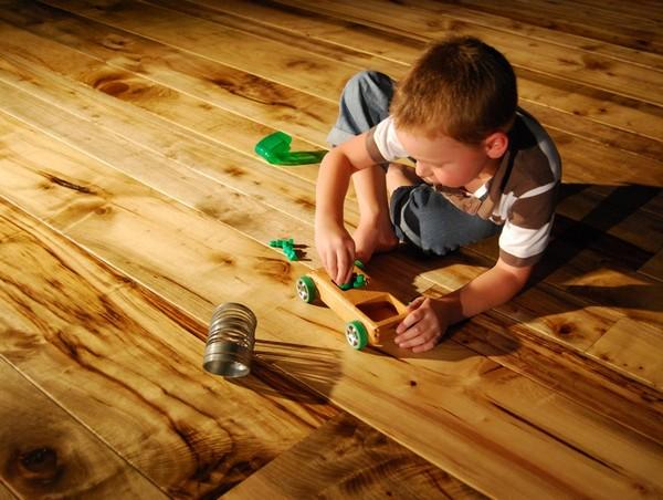 покрытие деревянного пола маслом
