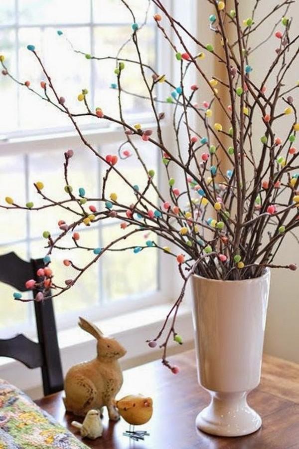 Пасхальное деревце из веточек