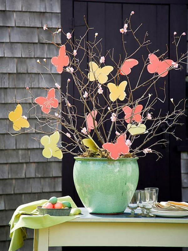 Как красиво украсить пасхальное дерево