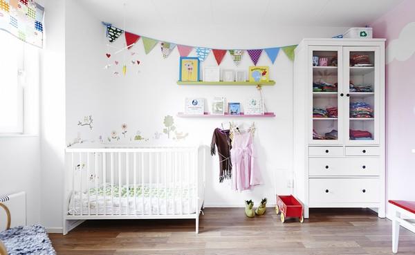 Детская комната новорожденного в скандинавском стиле фото