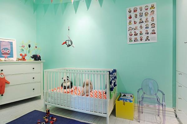скандинавский стиль в интерьере детской комнаты фото