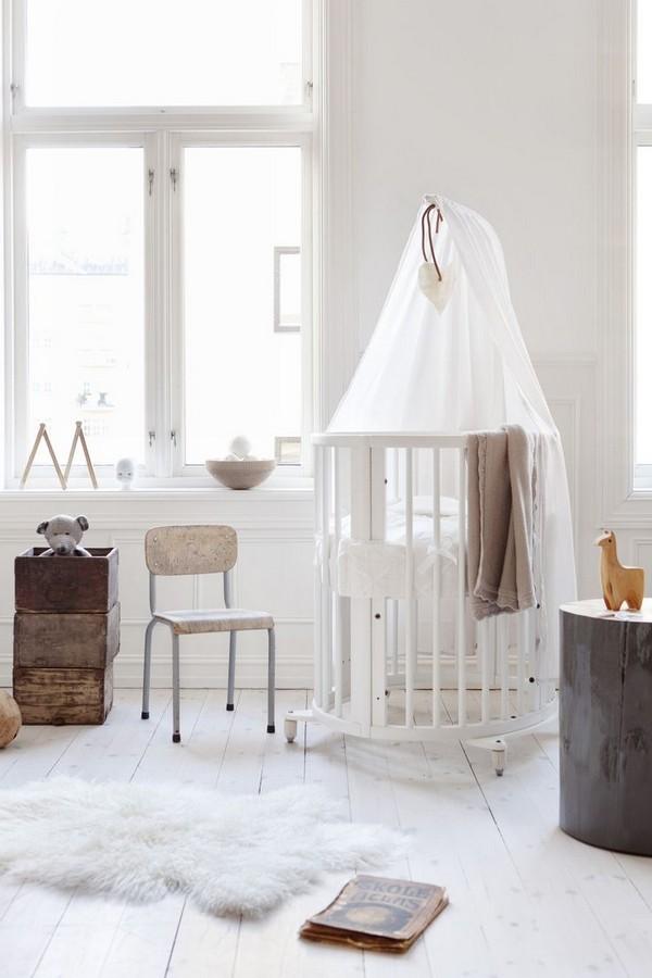 Детская новорожденного в скандинавском стиле