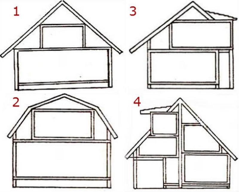 Мансардную ломаную крышу своими руками построить 92