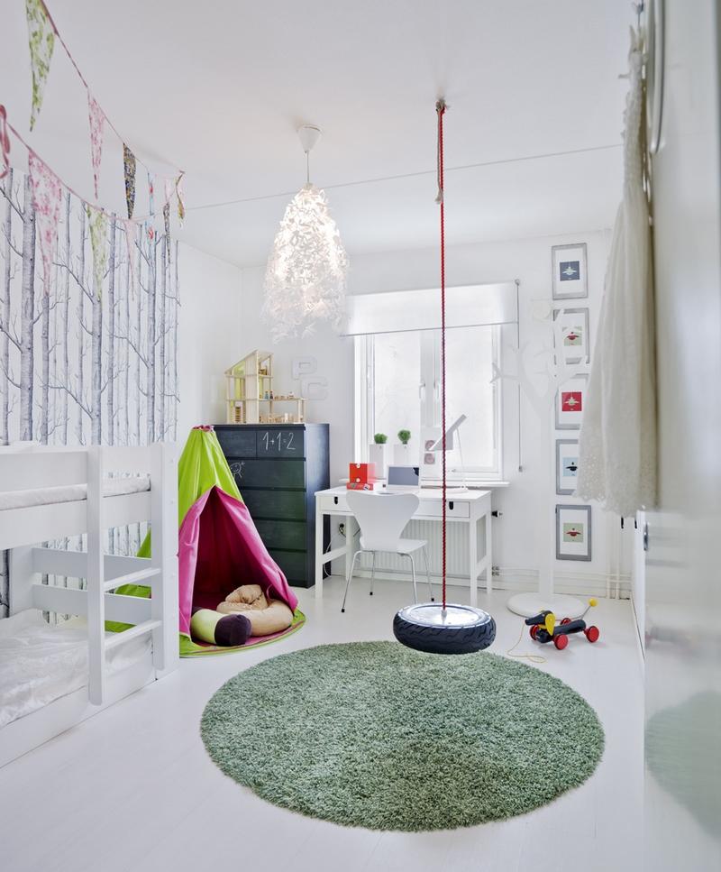Летний дизайн детской комнаты