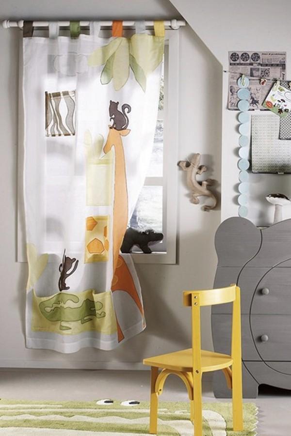 Легкие занавески для летнего дизайна детской фото
