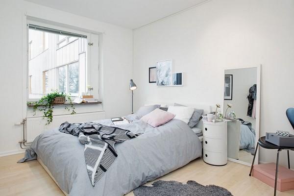 Скандинавская спальня без штор фото
