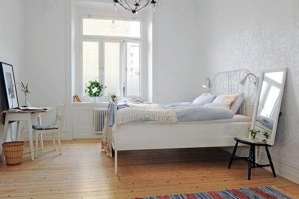 Дизайн скандинавской спальни фото