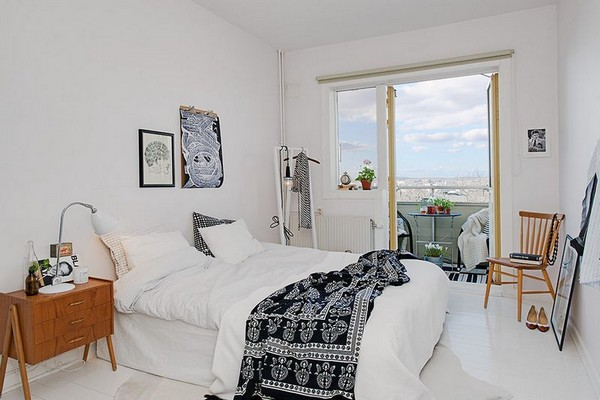 Роскошный дизайн спальни в скандинавском стиле