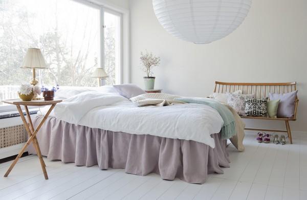 скандинавский стиль в спальне фото