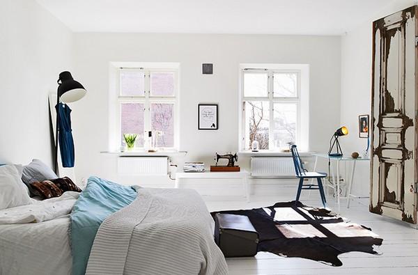 Мебель и освещение в скандинавском стиле в спальню