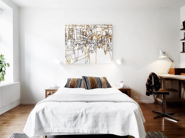 Аксессуары для скандинавской спальни фото