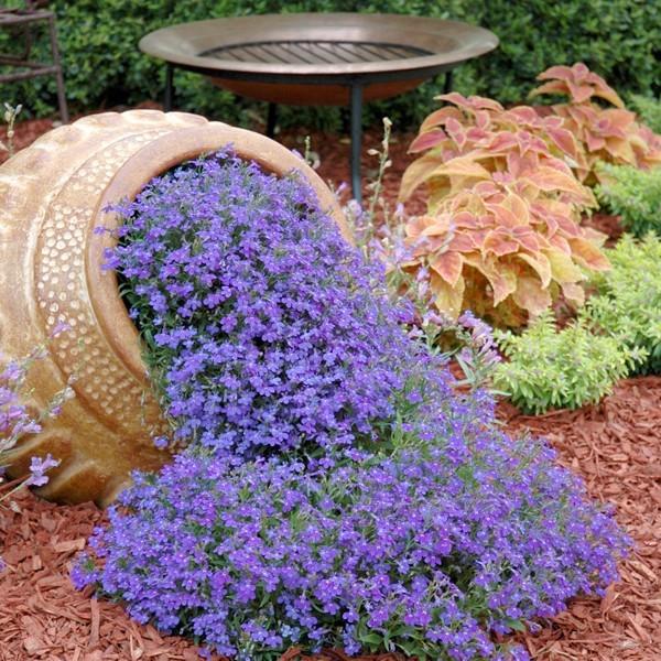 Клумба-ручей из цветочного горшка