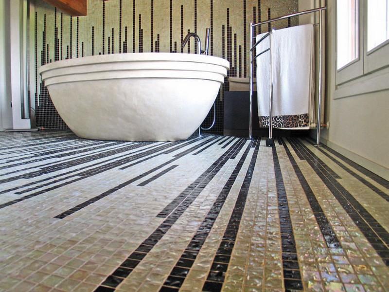 керамическая мозаика на пол фото