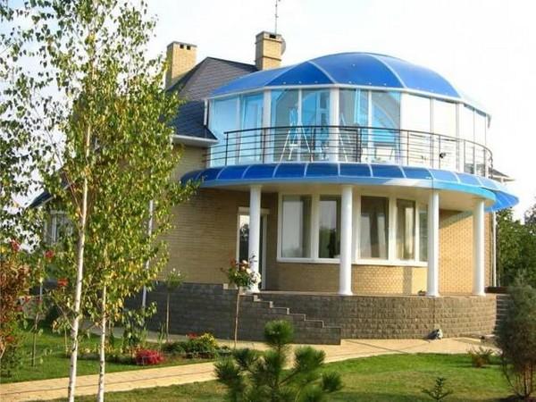 Козырек для полукруглого балкона фото