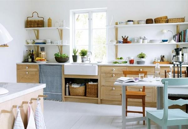 Кухня под дерево в скандинавском стиле фото