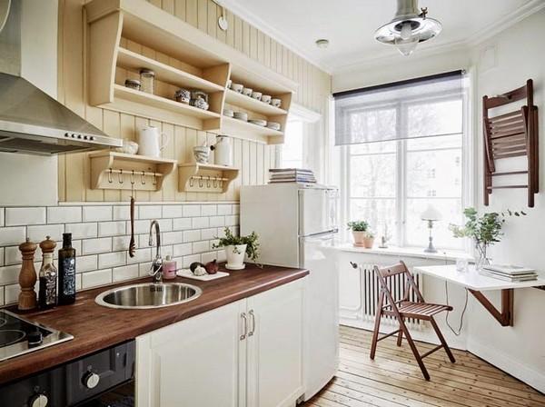 Роскошный интерьер кухни в скандинавском стиле