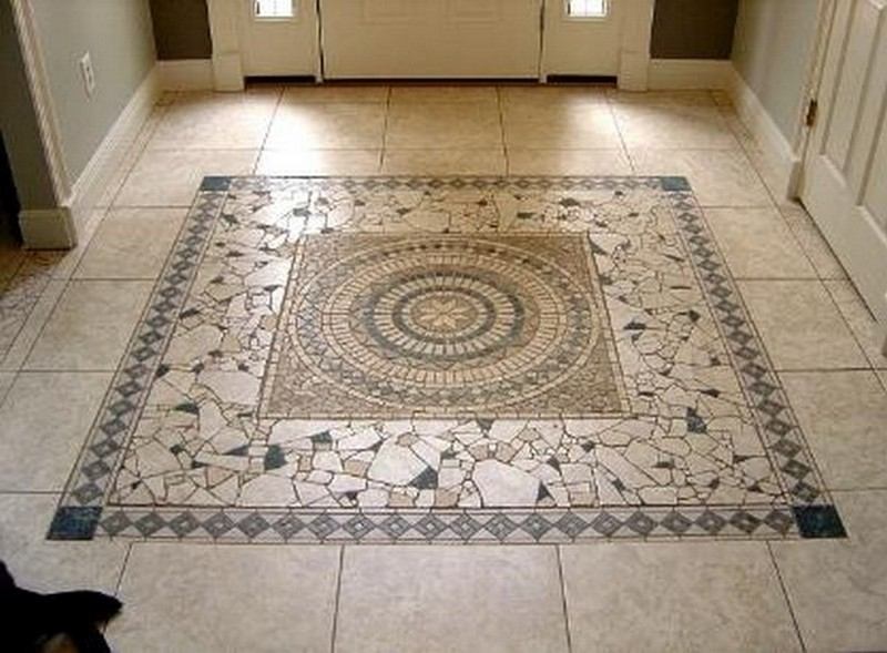 Floor mosaic tile