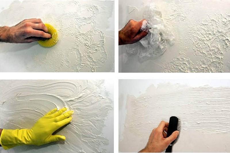 Своими руками сделать декоративная штукатурка