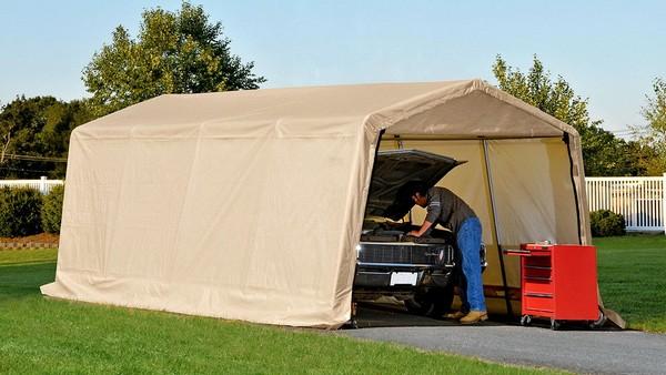 Тентовый гараж-навес для автомобиля