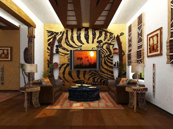 африканский стиль в квартире студии фото