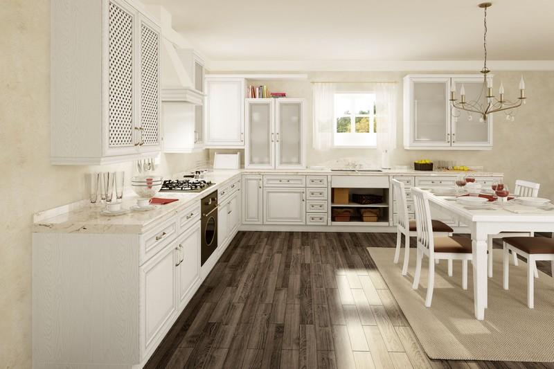 интерьер уютной кухни фото