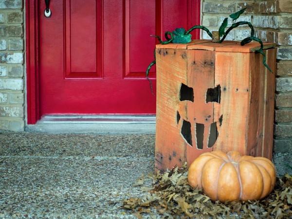 Декор из тыквы на Хэллоуин фото