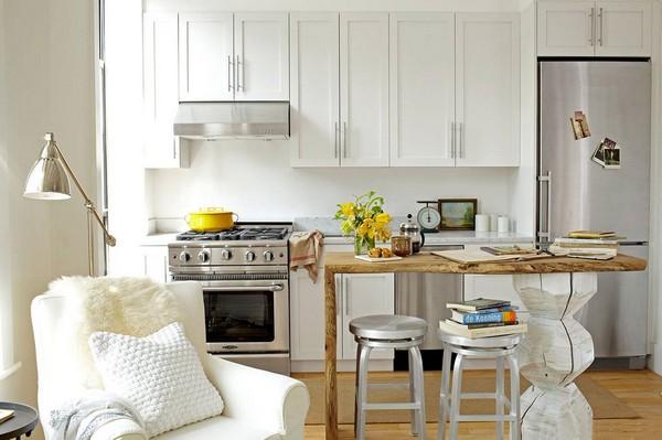 Как организовать пространство кухни в студии