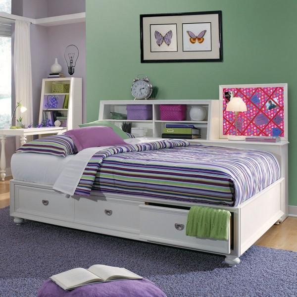 Белая подростковая кровать фото