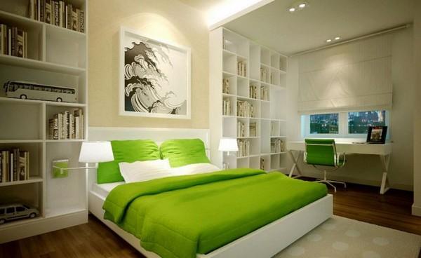Спальня и кабинет в одной комнате фото
