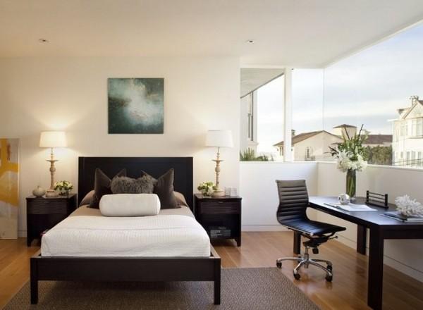 Планировка кабинета-спальни