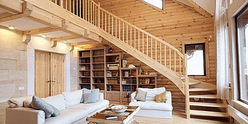 балкон внутри дома фото
