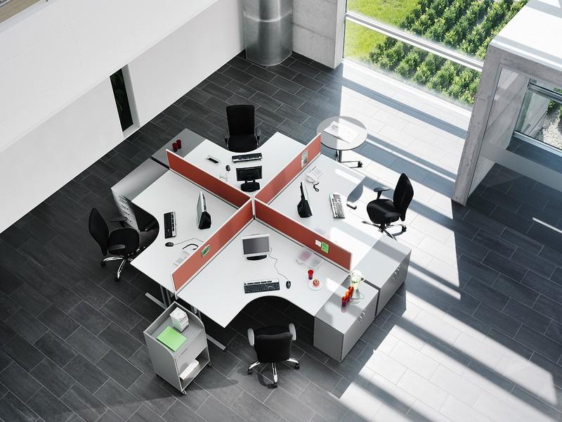 Мебель для рабочей зоны современного офиса