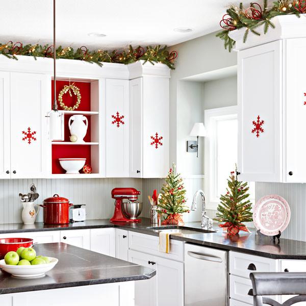 Идеи новогоднего декора кухни 2017 фото