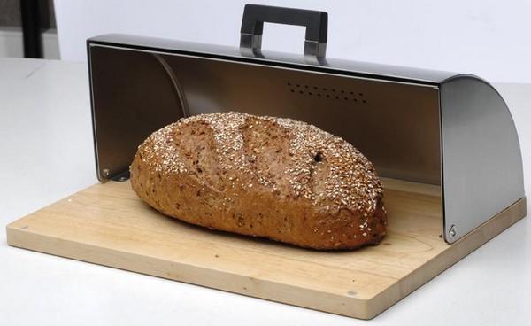 Хлебница дерево и нержавейка фото