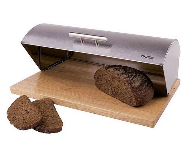 Хлебница деревянная VINZER с крышкой из нержавейки