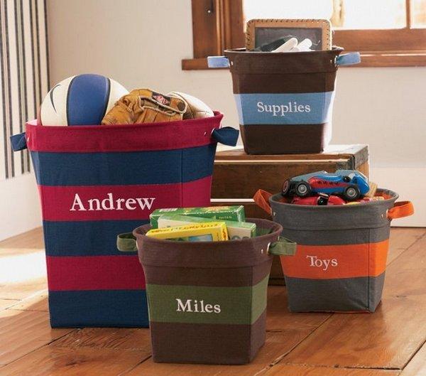 Как выбрать корзины для игрушек в детскую