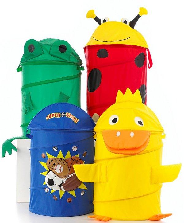 Тканевые корзины для игрушек фото