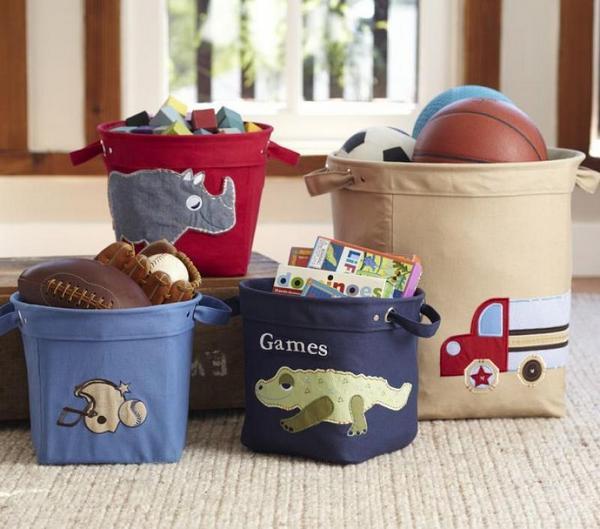 Корзины для игрушек в детскую комнату