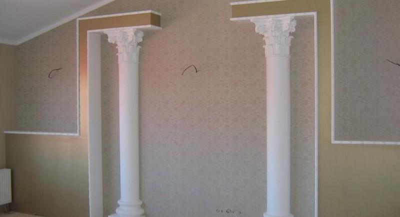 декоративные колонны своими руками фото
